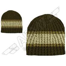 Stripes Crochet Beanie Sapka